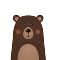 cute bear woodland forest animal vector image
