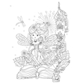 cute princess fairy girl vector image