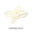 Decorative golden holly berry