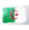 distressed grunge flag algeria vector image vector image