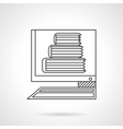 E-library flat line icon vector image vector image