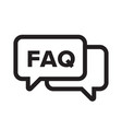 faq chat bubble ask dialog web icon vector image