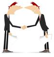 Firm handshake vector image vector image
