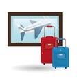 Flat of travel design vector image