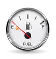 fuel gauge empty tank round car dashboard 3d vector image vector image