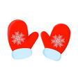 glove xmas isolated icon cartoon style for vector image vector image