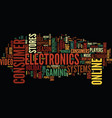 go online to buy hot consumer electronics for the vector image vector image