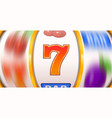 golden slot machine wins the jackpot spin wheels vector image