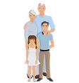 Grandparents granddaughter and grandson vector image