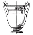 greek krater has volute handles that spiral vector image vector image