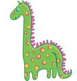 green dinosaur vector image