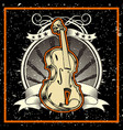 grunge style the classical music concept violin vector image