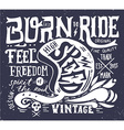 Hand drawn grunge vintage with hand lettering and vector image vector image