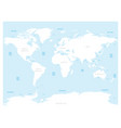 high detailed world map with labels of main vector image vector image