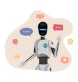 humanoid robot chatbot vector image