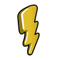 isolated thunder icon vector image vector image