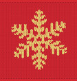 knitted snowflake pattern vector image vector image