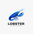 logo lobster gradient colorful style vector image