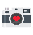 love camera flat icon valentines day and romantic vector image vector image