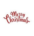 Merry Christmas Hand drawn lettering on white vector image