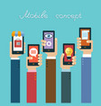 mobile apps concept vector image