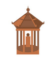 old temple isolated icon vector image