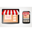 online store shopping concept on smartphone vector image vector image