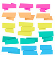origami ribbons collection vector image