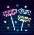 party mask night vector image