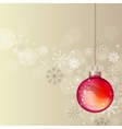 pastel christmas background with hanging ball vector image