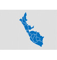 Peru map - high detailed blue map with