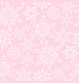 pink snowflakes pattern vector image vector image