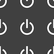 Power icon sign Seamless pattern on a gray vector image vector image