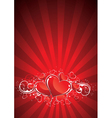 red valentines background vector image vector image