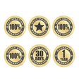 Satisfaction guarantee seals vector image