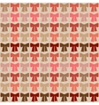 Seamless pattern with bows in retro style vector image vector image