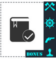 selected book icon flat vector image vector image