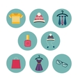 Series of eight flat icons the clothes and vector image vector image