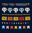 set dia de los muertos mexican day dead vector image vector image
