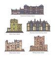 set line isolated ireland famous buildings vector image vector image