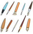 set of brush vector image vector image
