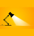 silhouette an office lamp with light beam vector image