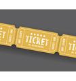 single tickets vector image vector image