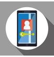 Smartphone design App icon White background vector image