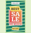 social media best sale banner vector image