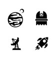 space research simple related icons vector image vector image