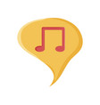 speech bubble with music note symbol vector image