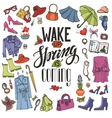 Spring fashionWomens wearquoteColored vector image