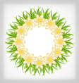 spring freshness card with grass and flowers vector image