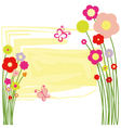 springtime floral butterfly postcard vector image vector image
